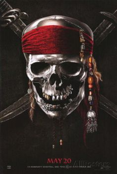 Pirates of the Caribbean: On Stranger Tides (Johnny Depp, Penelope Cruz, Geoffrey Rush) Movie Affiche double-face