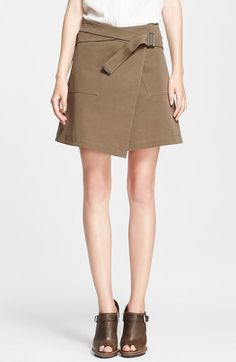 Belstaff+'Ryder'+Stretch+Cotton+Gabardine+Wrap+Skirt+available+at+#Nordstrom