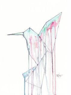 Kolibri I Druck Malerei von UtaKrauss auf Etsy