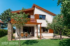 CSOK - Családi Otthonteremtési Kedvezmény - Szép Házak Online House Plans, Exterior, Cabin, Mansions, House Styles, Houses, Outdoor, Home Decor, Gardens