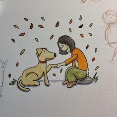 Promete se comportar quando eu no estiver aqui dwgdaily ink watercolor