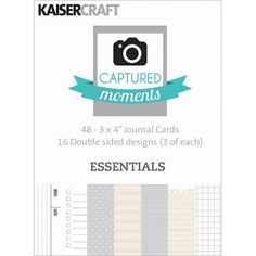 Captured Moments Double-Sided Cards, 3 inch x 4 inch, 48pk, Essentials, Multicolor