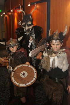 DIY Homemade Viking Costume Idea for kids or a family