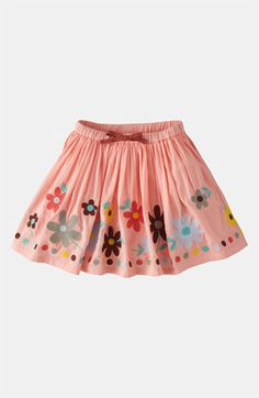 Mini Boden 'Decorative' Skirt (Toddler, Little Girls & Big Girls) Little Girl Skirts, Baby Girl Skirts, Baby Skirt, Skirts For Kids, Baby Dress, Cute Outfits For Kids, Toddler Girl Outfits, Toddler Fashion, Kids Fashion