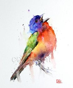 Watercolor Painting of Birds By Dean Crouser