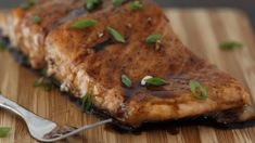 Maple Balsamic Glazed Salmon