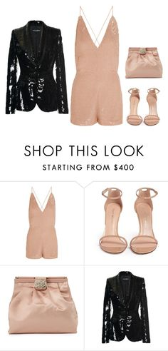 """""""Senza titolo #1317"""" by granatina ❤ liked on Polyvore featuring Valentino, Stuart Weitzman, Dolce&Gabbana and Sequin"""
