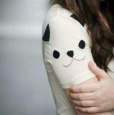 Blusa com manga de panda
