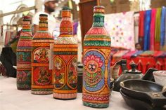 Color Caravan Painted Bottles