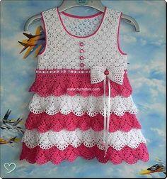 crochet baby dresses 16