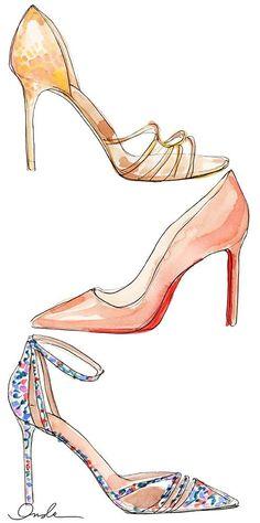 Inslee Shoe Series Illustration Art