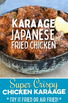 Chicken Karaage a k a Japanese Fried Chicken is crispy on the outside and super moist within Delicious as an appetizer or serve with rice to turn it into meal I have taken a deep dive into how to prepare the perfect Karaage including an air-fried version Raw Food Recipes, Asian Recipes, Chicken Recipes, Cooking Recipes, Chicken Karaage Recipe, Japanese Fried Chicken, Japanese Fried Rice, Easy Japanese Recipes, Japanese Food Healthy