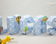 Letra 3D Balão de Passeio