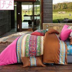 FADFAY Home Textile,Boho Bedding Set,Bohemia Exotic Bedding Set,Chinese Bedding Set,4Pcs,Queen