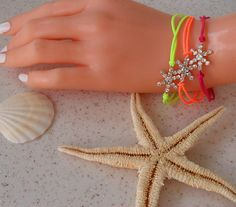 New - Neon Bracelet - Snow Flake -  Bangle - Bracelet - Summer Style - Beach - Summer - Friendship Bracelet