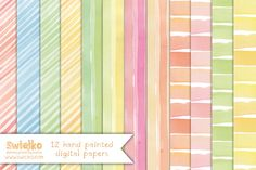 Check out Watercolor Paper, Stripes by swiejko on Creative Market