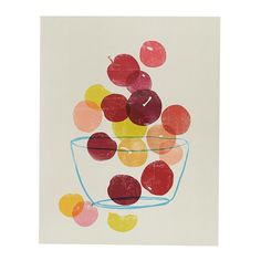 Bowl of Plums Wall Art | The Land of Nod