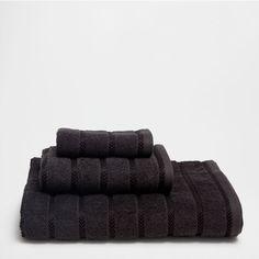 SERVIETTES COTON JACQUARD BANDES GRISES - Serviettes - Bain | Zara Home België / Belgique