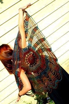 crochet spider web/circle vest