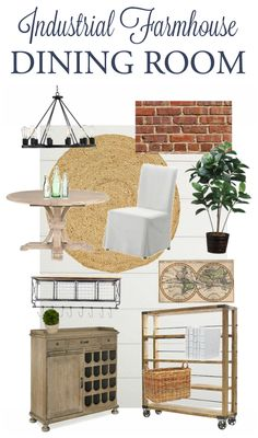 Im Sharing The Industrial Farmhouse Dining Room Design Plan For Our One Challenge