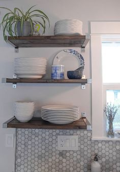 Organize even a small space with shelving units.