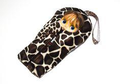 "The Original Blythe Sleepsack from PINKKIS: Handmade ""Giraffe"" Carrier for Blythe Dolls"