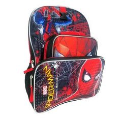 Marvel Spider-Man 16 Homecoming Kids' Backpack with Lunch Bag and Pencil Case, Red