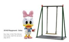 """Disney Play Buddies 3.5"""" Playground Series - Daisy [33143] by Dragon. $25.99. Play Buddies Collection comprises different Disney characters in a setting that brings customers back to their nostalgic Hong Kong childhood.  This Playground series features each character in the old-style Hong Kong playground along with toys that were played in their childhood days. Many Hong Kong natives have collective memories of photos, letters or videos to capture these precious..."""