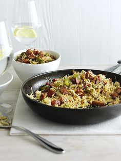 This recipe for cajun fried rice is quick, easy and under 500 calories - perfect for a midweek meal.