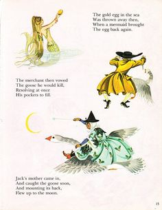 Mother Goose from Deans A Book of Fairy Tales. Illustrated by Janet & Anne Grahame Johnstone. 1977.