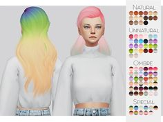 -Comes in 90 swatches Found in TSR Category 'Sims 4 Female Hairstyles'