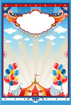 Illustration of Circus tent background with space for text vector art, clipart and stock vectors. Toy Story Invitations, Carnival Invitations, Birthday Invitations, Circus Party Decorations, Carnival Themed Party, Party Themes, Adult Circus Party, Carnival Birthday, Clown Party