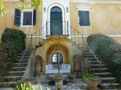 Arriving at the house Mediterranean Garden, Corfu, Venetian, Property For Sale, Mansions, House Styles, Manor Houses, Villas, Mansion