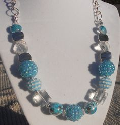 Jesse James Blue Skies Necklace by JewelryByAngelDesign on Etsy