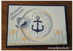 Stampin up, Kullerkarte, spinner card, Sliding star, seaside shore