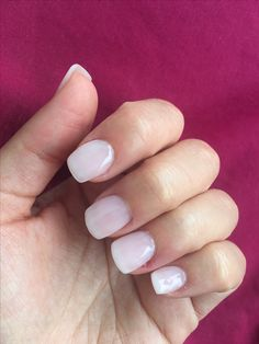 Delicate milky white nails for my wedding