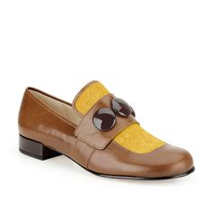 Orla Dora in Ochre Leather - Womens Shoes from Clarks