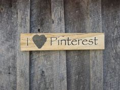 I love #pinterest rustic #sign