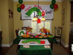 GreyGrey Designs: {My Parties} Very Hungry Caterpillar Birthday Party! First Birthday Parties, Birthday Party Themes, First Birthdays, Birthday Ideas, 2nd Birthday, Birthday Cupcakes, Happy Birthday, Hungry Caterpillar Party, Caterpillar Book