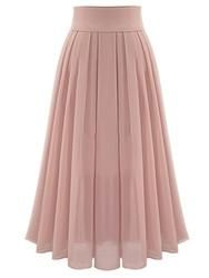 #EricDress - #EricDress Ericdress High-Waist Chiffon Expansion Pleated Ankle-Length Womens Skirt - AdoreWe.com