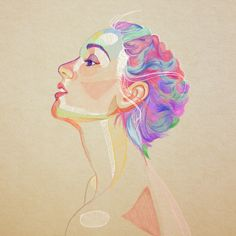 Free Art - Woman with brightly colored hair - Mixkit