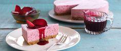 Plum & Ginger Cheesecake