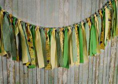 John Deere Inspired rag tie garland by AlexaNoelBoutique on Etsy