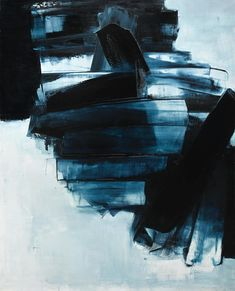 Pierre Soulages N. 1919 PEINTURE 162 X 130 CM, 14 AVRIL 1962 signed; signed, dated 14 avril 62 and dated 1962 on the reverse oil on canvas 162 x 130 cm; Executed in Contemporary Abstract Art, Contemporary Artists, Modern Art, Art Nouveau, Art Ancien, Online Painting, Hanging Art, Oeuvre D'art, Abstract Expressionism
