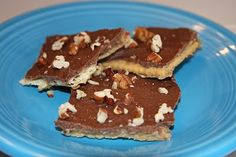 saltine toffee crack.  yum and easy