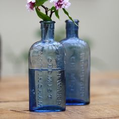 Woodwards Vintage Blue Bottle | Dee Puddy