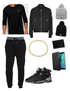 """""""men jogger outfit"""" by taylormae1004 ❤ liked on Polyvore featuring McQ by Alexander McQueen, Jordan Brand, NIKE, Sevil Designs and Topshop"""