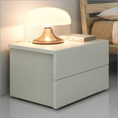 Mac:Night bordo bedside table, with 1, 2 or 3 drawers