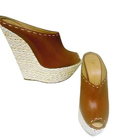 Giuseppe Zanotti Womens Platform Wedge Brown * Want additional info? Click on the image.(This is an Amazon affiliate link and I receive a commission for the sales) #WomensPlatformsandWedgesSandals