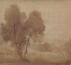 artwork (Warrandyte) by Godfrey MillerGodfrey Miller (Warrandyte) 1920s Sepia wash on paper 18.5 x 20  cm